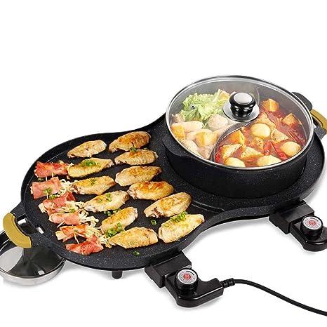Parrillas eléctricas All-in-one Cookware Pan Barbacoa Eléctrica, Multifunción Grill Cookers Antiadherente