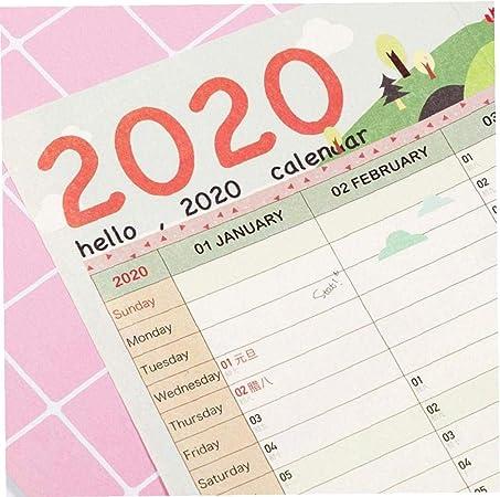 Snner 1 Pieza 2020 Planificador del Año 365 Días De Cuenta Regresiva del Calendario De Pared Calendario Estudio Año Nuevo: Amazon.es: Hogar