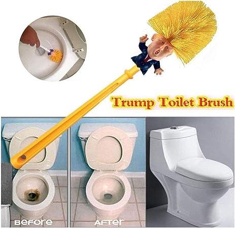 Cepillo de Inodoro de Donald Trump ba/ño Escobilla de Trump Limpiador de Taza para el hogar WC Bowl Brush