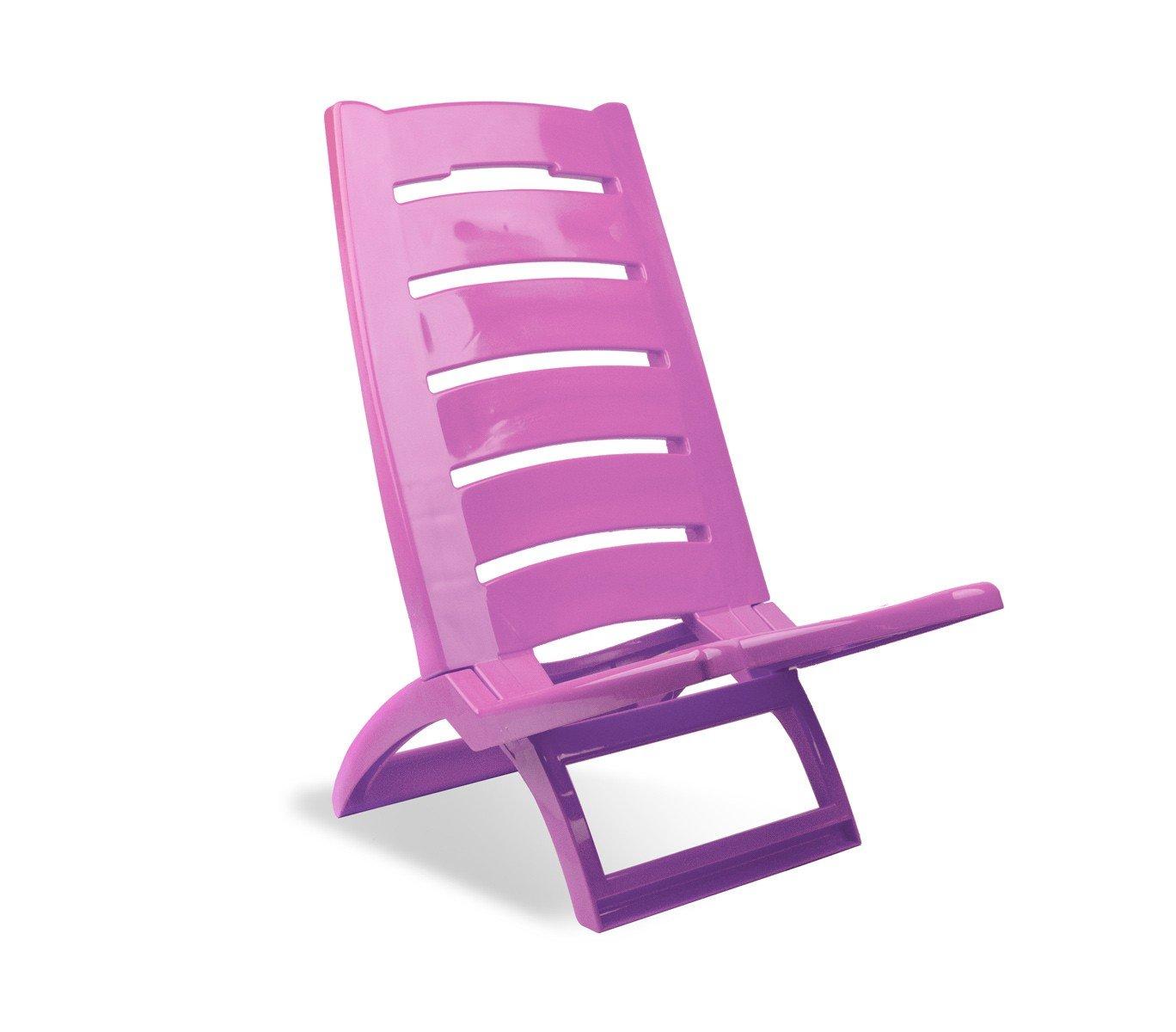 Silla plegable para la playa EVERTOP plástico rígido varios colores 65x38x50 cm - Violeta