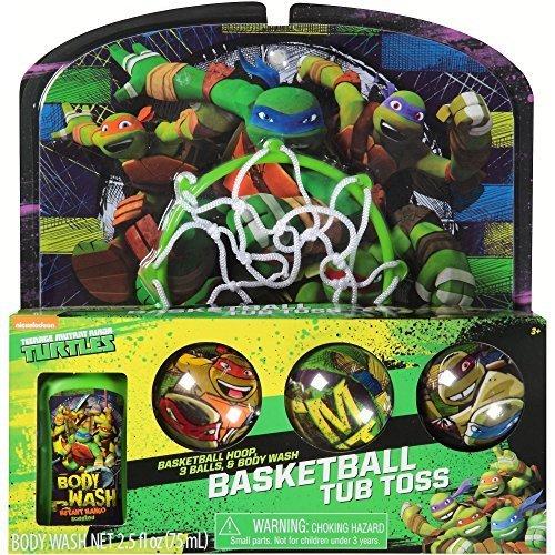 Bath Toss (Teenage Mutant Ninja Turtles TMNT Bathtub Basketball Tub Toss Gift Set)
