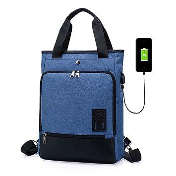 SINOKAL Mochila para Mujeres Hombres Bolso Bolsa de Viaje Mochila de Portátil Backpack Impermeable para el Laptop del Negocio Trabajo Diario Ocio con Puerto ...