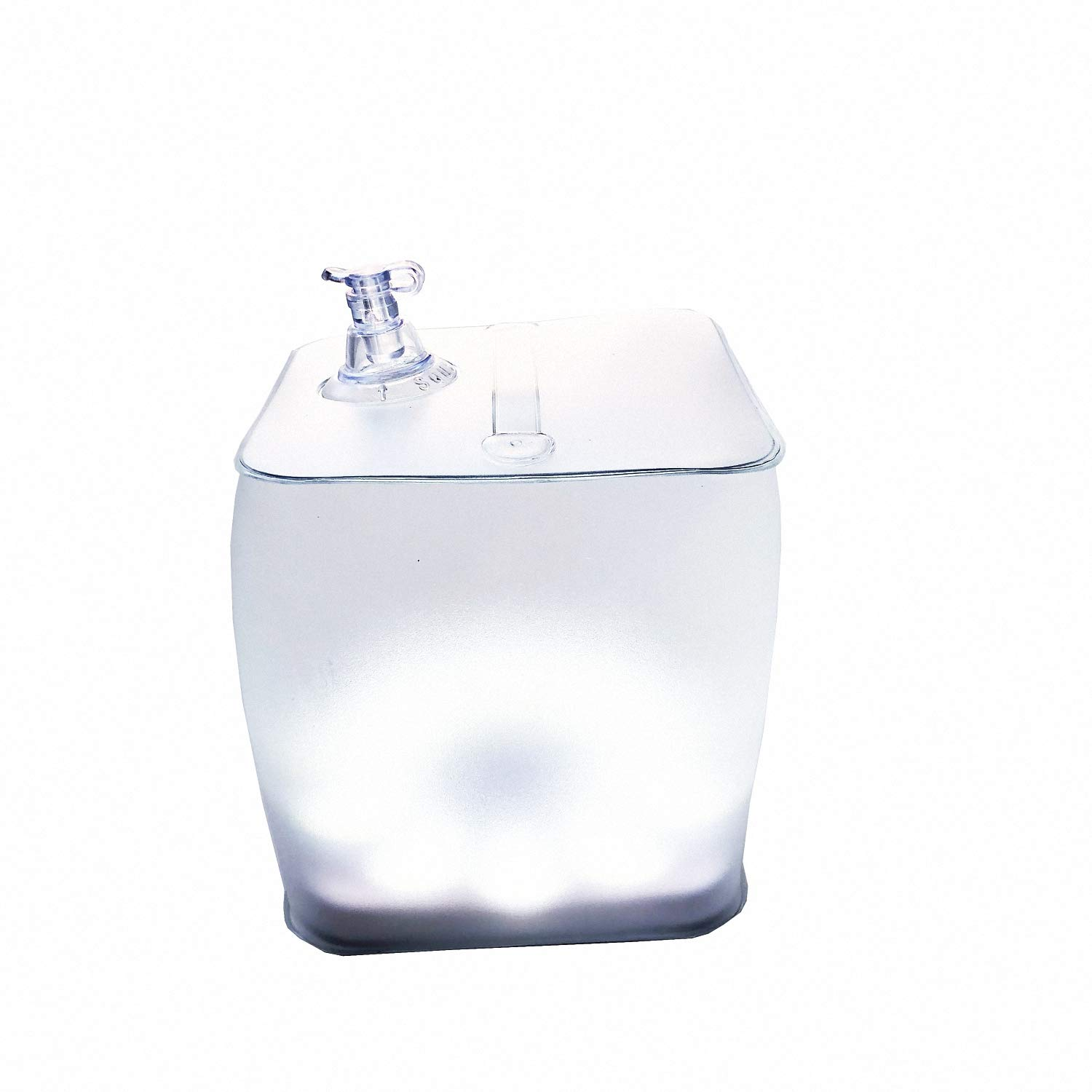 Clear Round 1 Pack Fishing Hiking Party Arols Inflatable Solar Light Collapsible LED Camping Lantern Outdoor Survival Emergency Lighting for Patio
