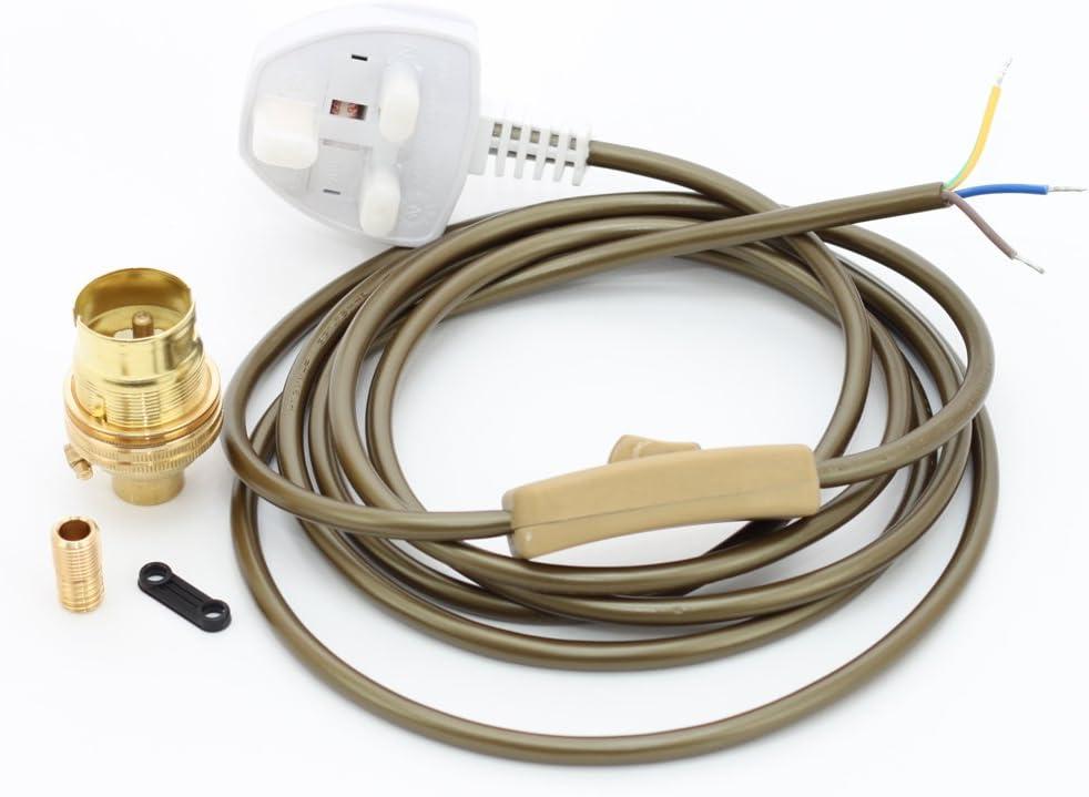 Floor Lamp Wiring Kit Brass Bulb Holder
