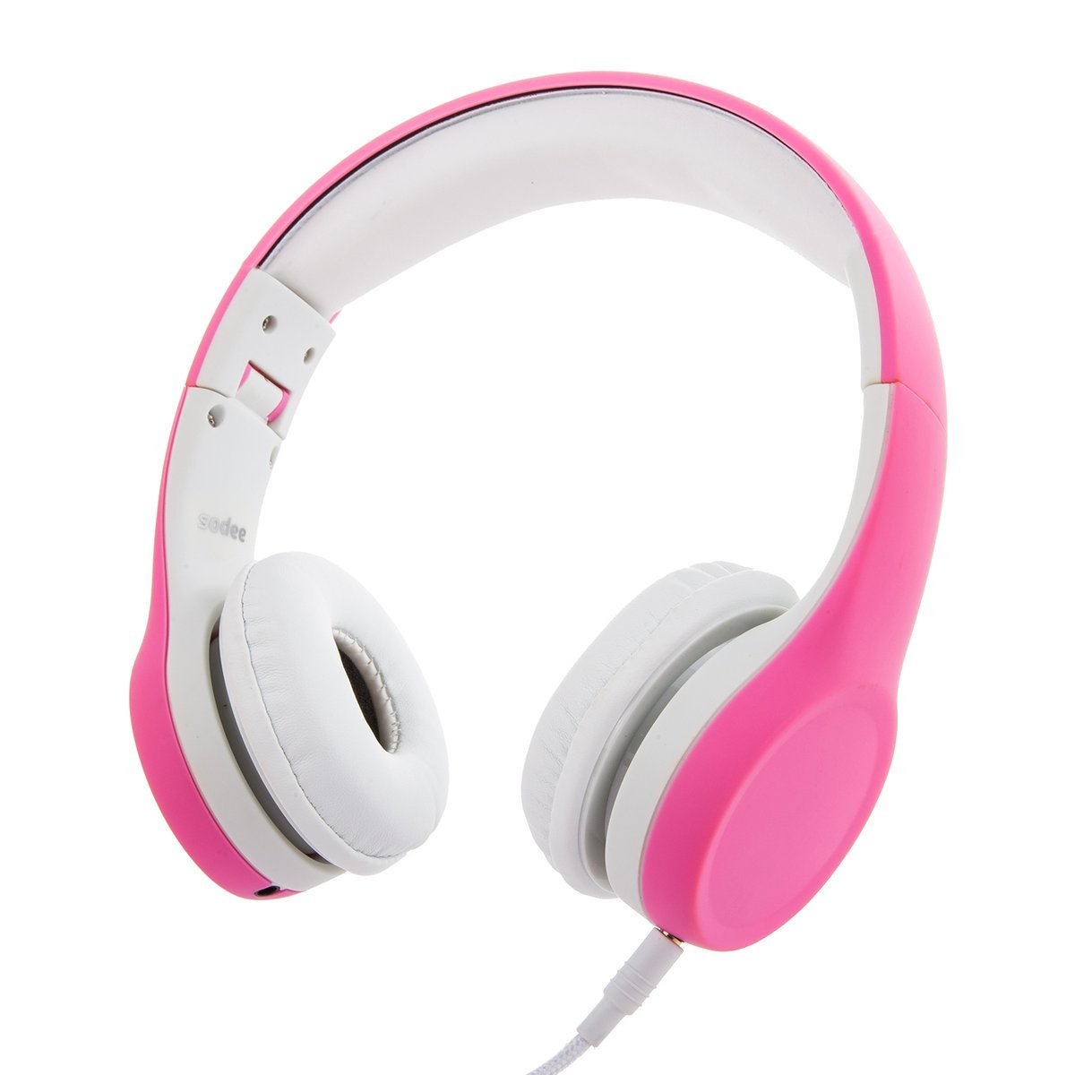 Kids Headphones Volume Limited Foldable Wired Children Headphones with Microphone and Music Sharing for Boys Girls Children, Pink