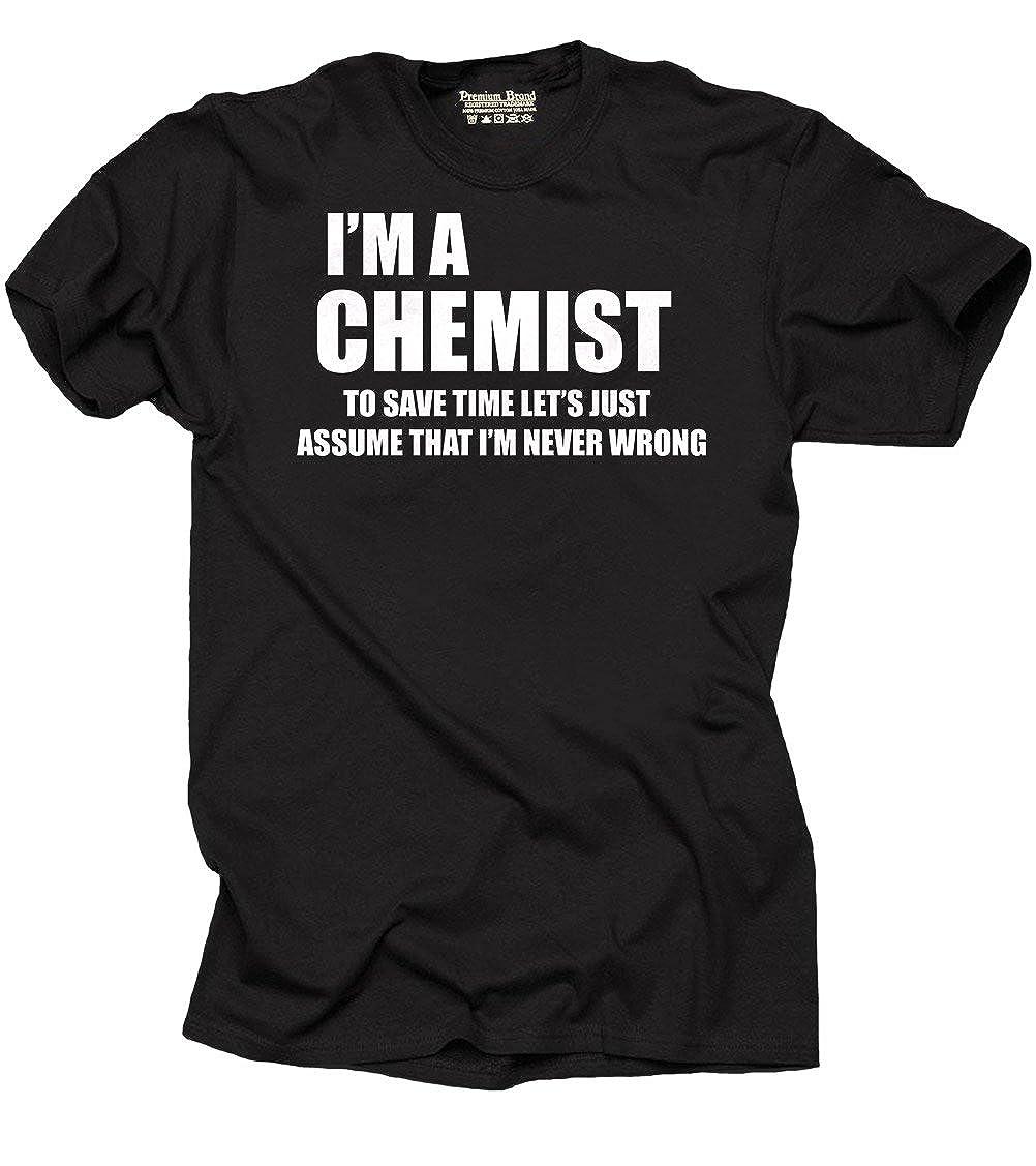 c66e0b19a98da Amazon.com  Chemist Funny Chemistry T-shirt  Clothing