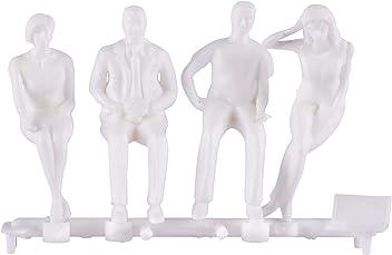 transparent 18 Hermoli Modell Figuren stehend Kunststoff 1:50 ca.Spur 0 weiss o