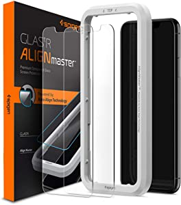 Spigen Tempered Glass Screen Protector [Glas.tR AlignMaster] designed for iPhone 11 Pro Max (2019) [2 Pack]