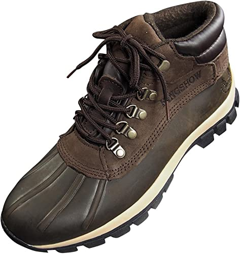 Mens Leather Snow Boots