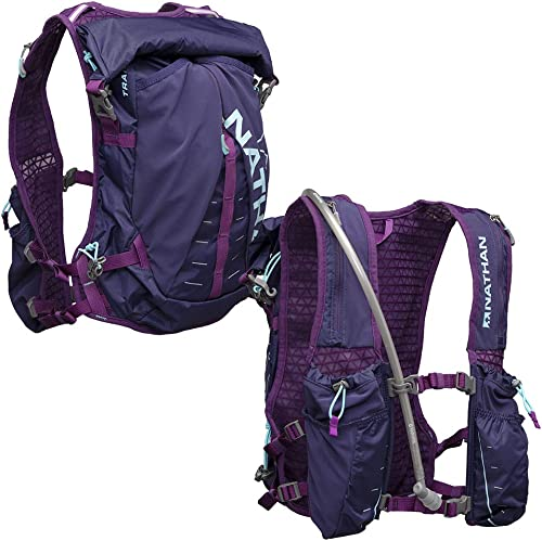 Nathan TrailMix Running Vest Hydration Pack. 12L 12 Liters for Men and Women 2L Bladder Included 2 liters . Zipper, Pocket
