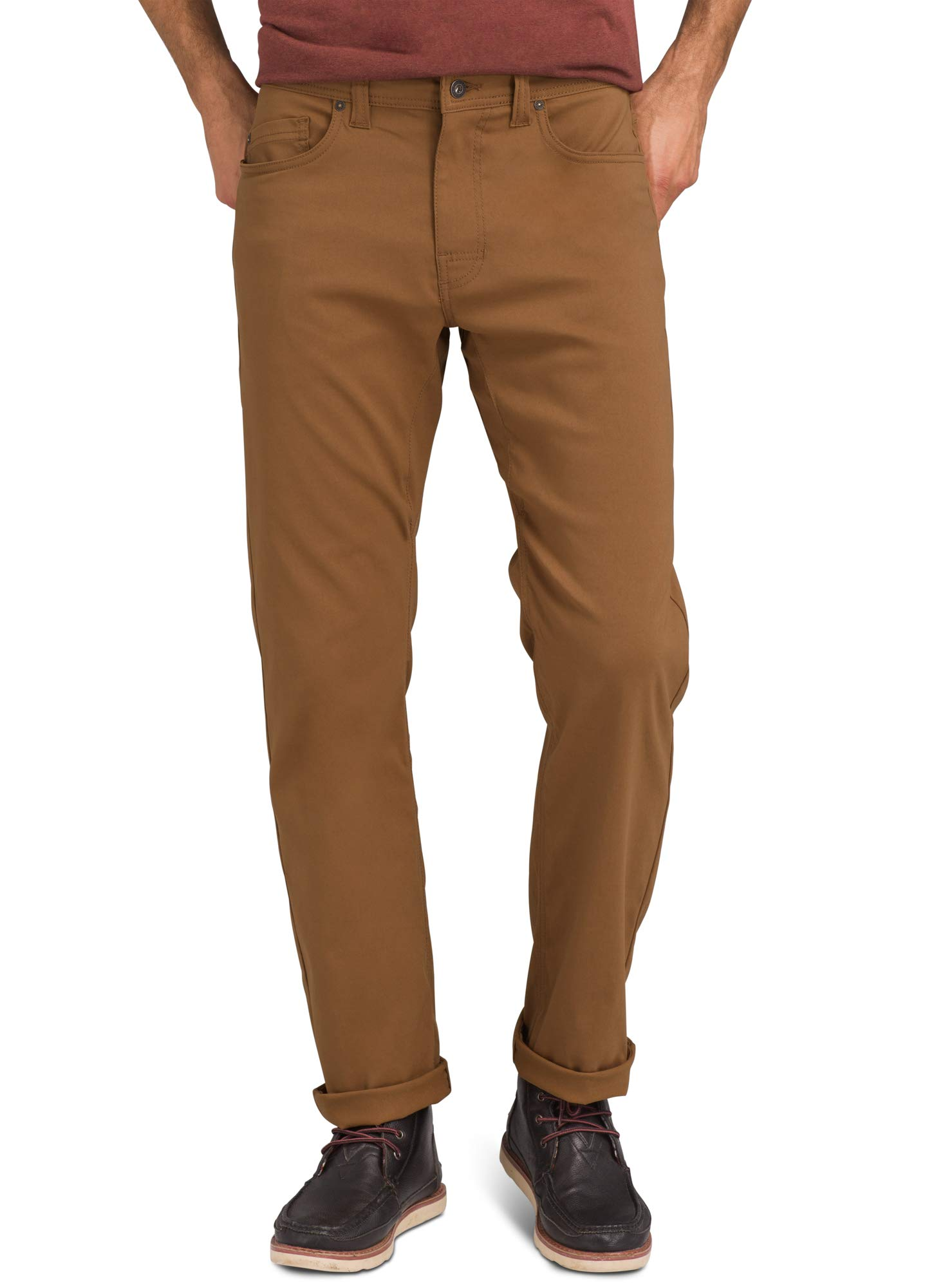 prAna - Men's Brion Lightweight, Breathable, Wrinkle-Resistant Stretch Pants for Hiking and Everyday Wear, 32'' Inseam, Sepia, 38 by prAna