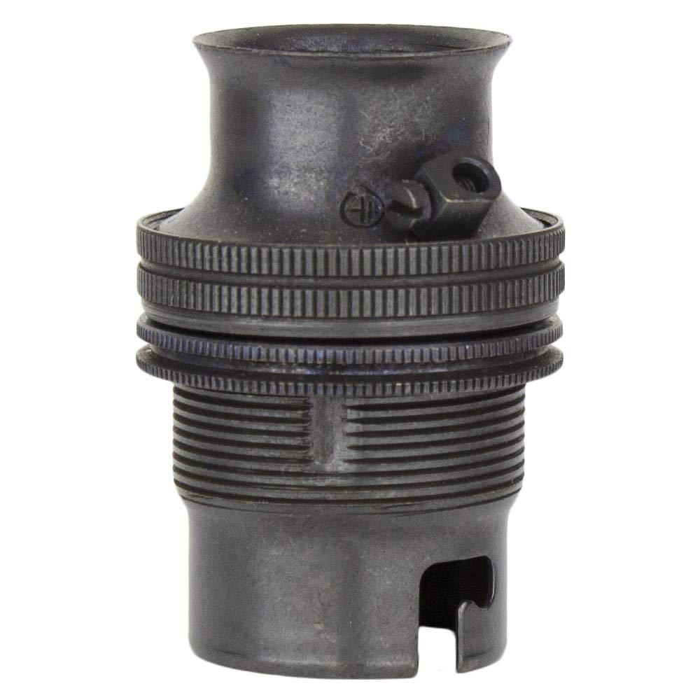 Nickel Suitable for 20mm Conduit BC B22 Bayonet Fitting. Conduit Lamp Holder Bayonet Bulb Holder 20mm Threaded Lamp Holder