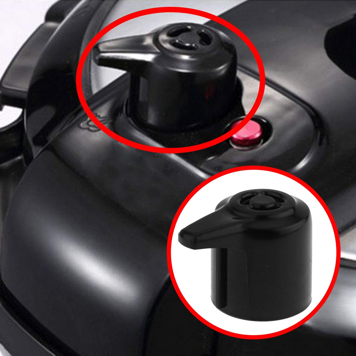 Freebily Steam Release Valve for Instant Pot Duo Mini 3 Qt Duo Plus Mini 3 Qt DUO60 6 Qt and DUO80 8 Qt Programmable Pressure Cooker Black One Size by Freebily (Image #2)