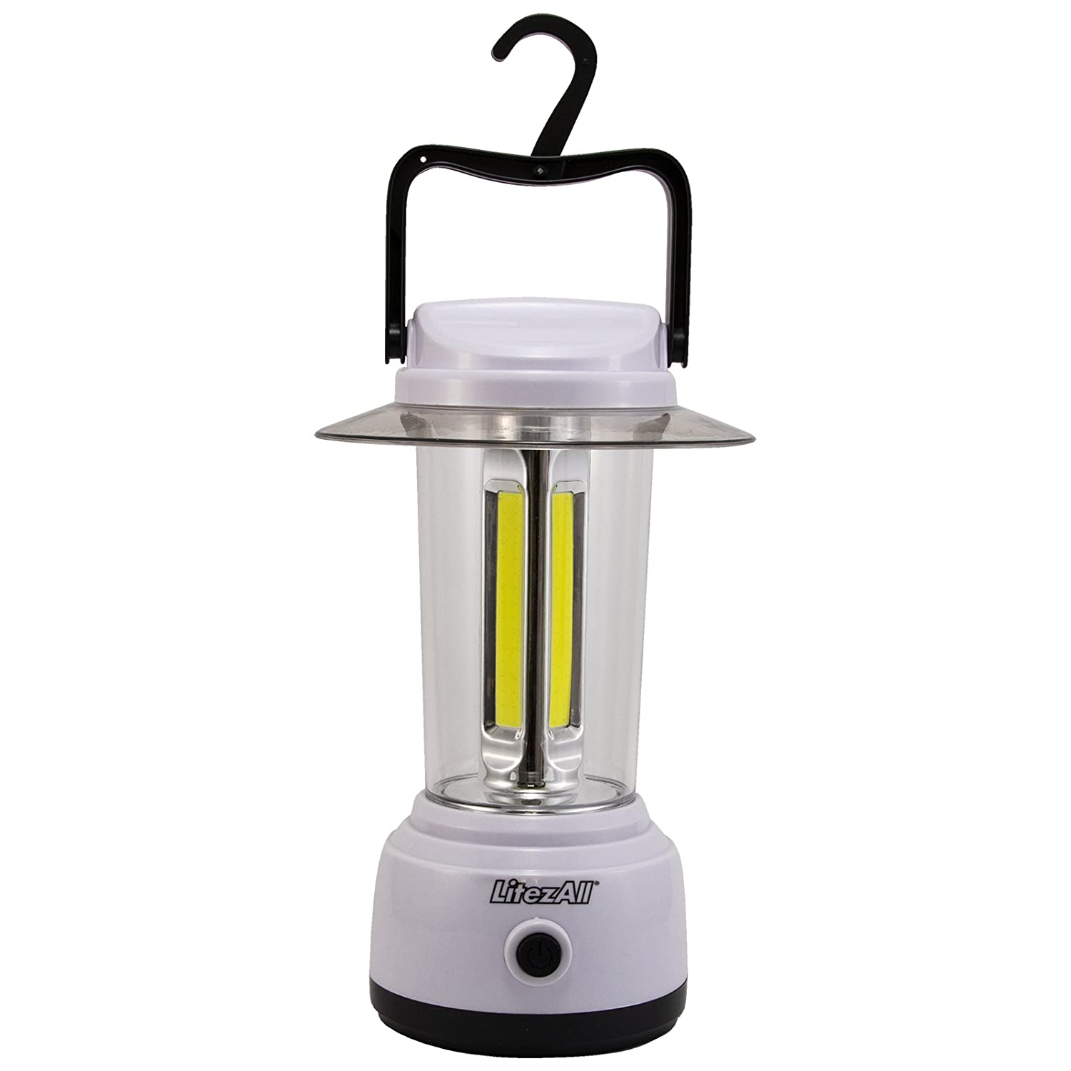 Promier LitezAll Portable COB Led Camping Lantern – 1750 Lumen Brightness 5-Mode Battery Powered – Tent Camping, Fishing, Emergency, Survival Kit for Hurricane, Storm or Outage Batteries Included