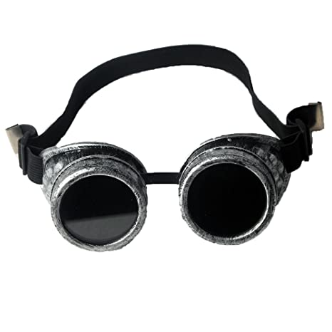 ffirstlike Retro antiguo marco plateado vapor Punk soldadura Gorgeous Prendas de vestir accesorios + lentes de