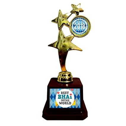 YaYa Cafe Birthday Gift For Brother Best Bhai In The World Trophy Award