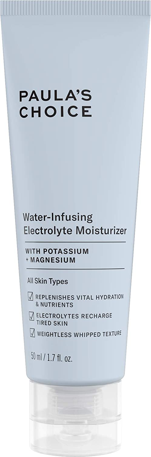 Paula's Choice Water-Infusing Electrolyte Face Moisturizer, Lightweight Deep Hydration for All Skin Types Including Dry and Acne-Prone Skin, 1.7 Ounces