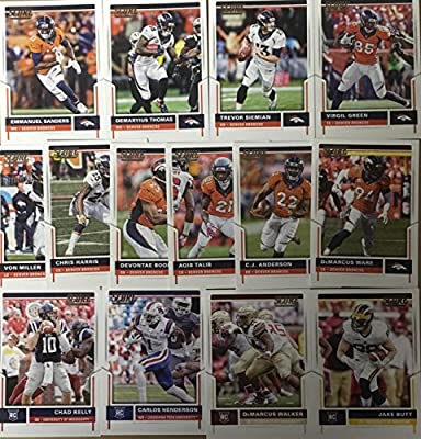 2017 Panini Score Football Denver Broncos Team Set 14 Cards W/Rookies