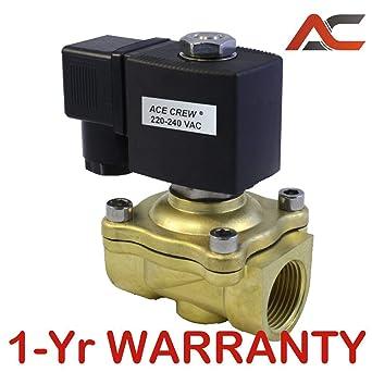 "Válvula Solenoide Eléctrico De Latón Aire Agua N//S 220V AC 1/"" normalmente abierto tipo"