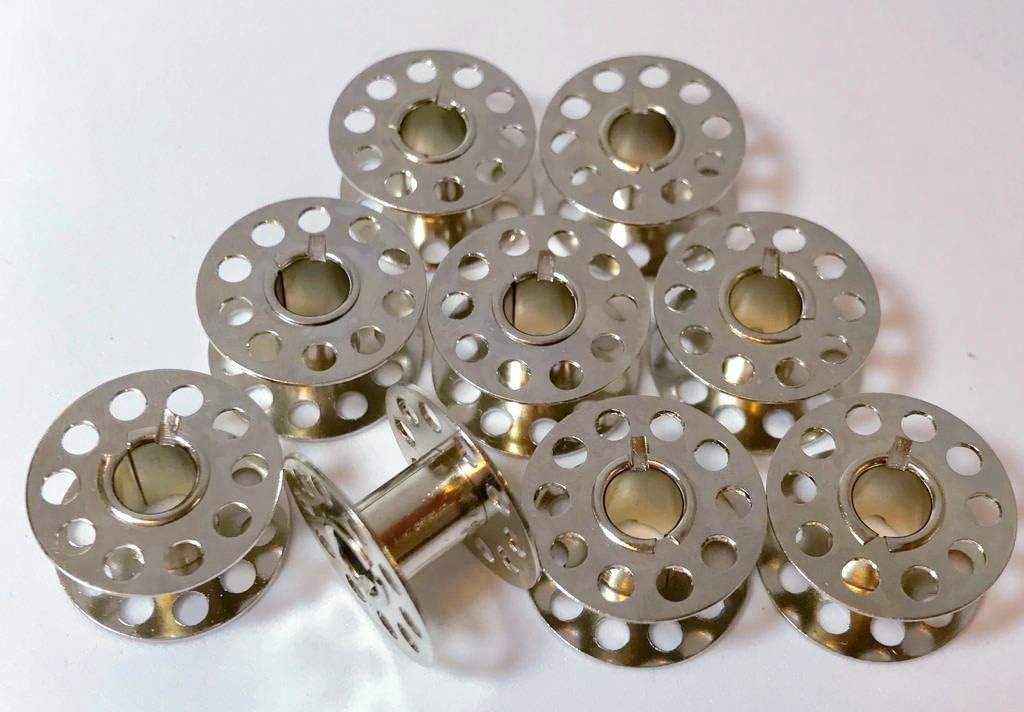 9 Metall Spulen f/ür Carina N/ähmaschinen