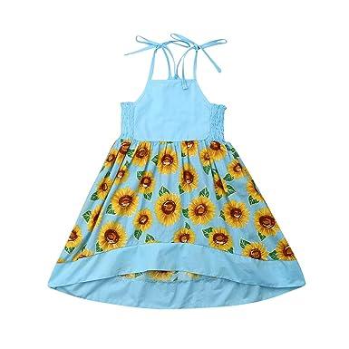 Amazoncom Vestido Para Niñas Con Diseño De Girasol