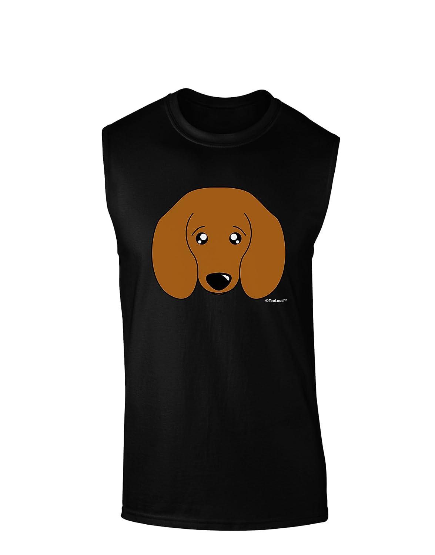 TooLoud Cute Doxie Dachshund Dog Dark Muscle Shirt