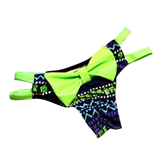 a693b469cfea Bikini Bottom Mujer cintura alta Tankini Short con Bowknot Brasileña ...