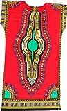 RaanPahMuang Brand Child Dashiki Colors Afrikan Full Kaftan Throw Over Outfit, 1-3 Years, Red