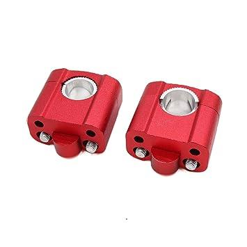 sourcing map 2pcs 22mm-28mm Manillar Adaptador Riser Abrazadera para Motocicleta Aleación Color Rojo: Amazon.es: Coche y moto