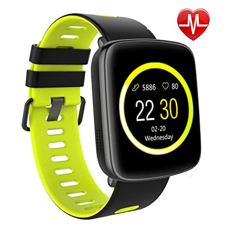 Reloj inteligente, willful Sw018 Bluetooth SmartWatch IP68 resistente al agua deporte Fitness Monitor de frecuencia