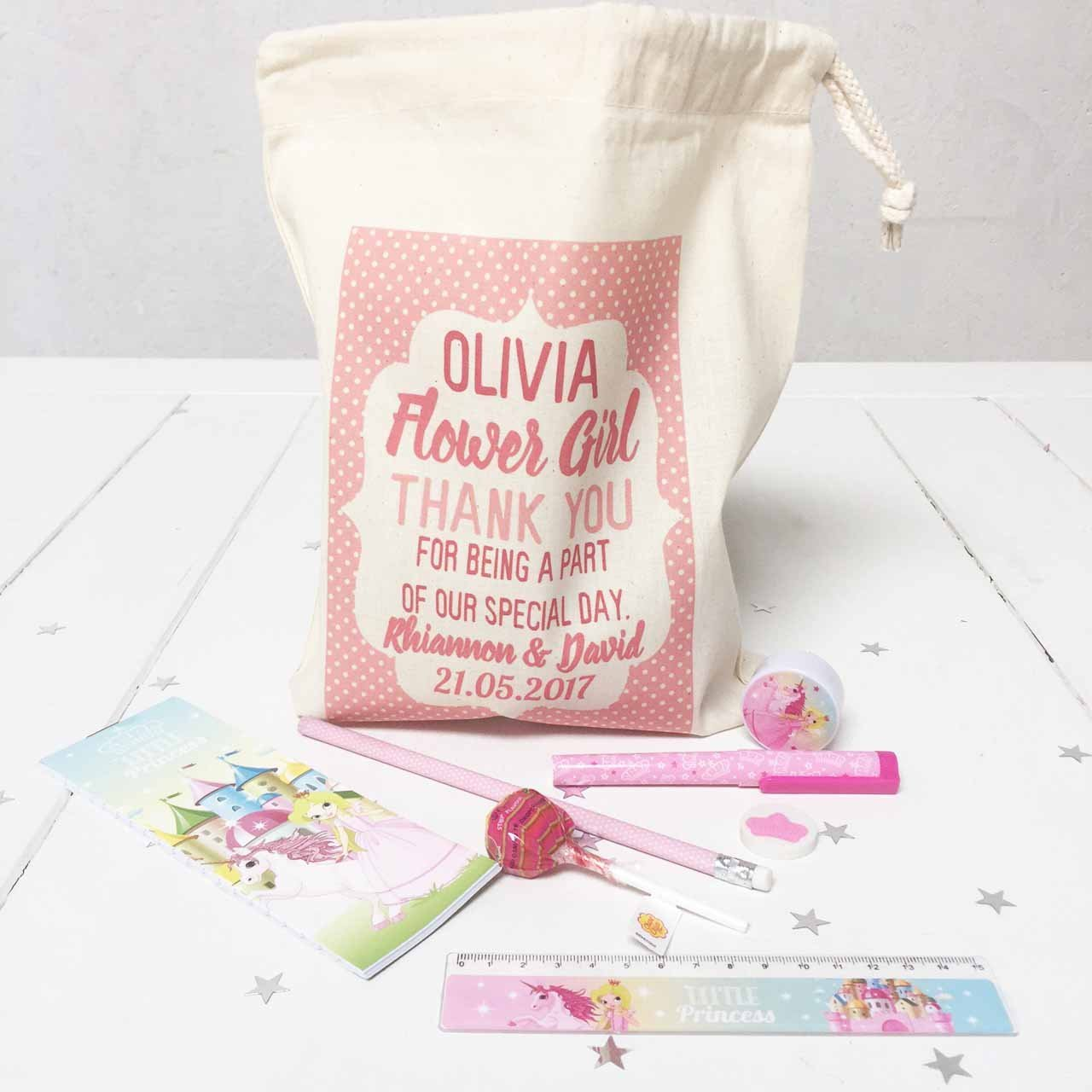 Personalised Wedding day Flower Girl pre filled activity pack ...