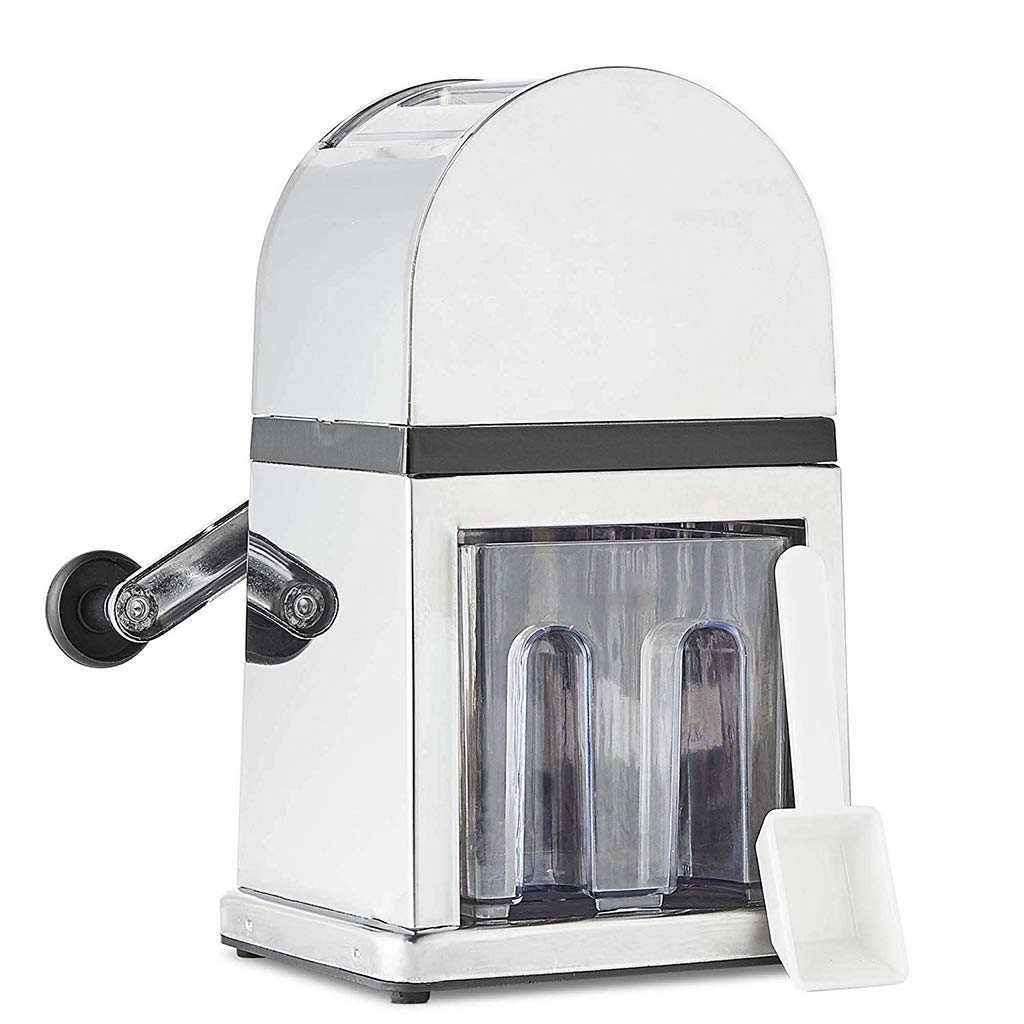 Ice Crusher Machine Manual with Scoop and Ice Tray - 900ml Capacity with Stylish Mirrored Finish - Perfect for Cocktails/Smoothie/cold drink