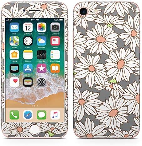 igsticker iPhone SE 2020 iPhone8 iPhone7 専用 スキンシール 全面スキンシール フル 背面 側面 正面 液晶 ステッカー 保護シール 008795 フラワー 花 フラワー イラスト