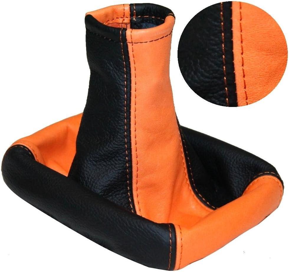 Aerzetix Funda Palanca de Cambio Piel 100/% Cuero Naranja//Negro Para Citroen Jumper 1 1994-2006