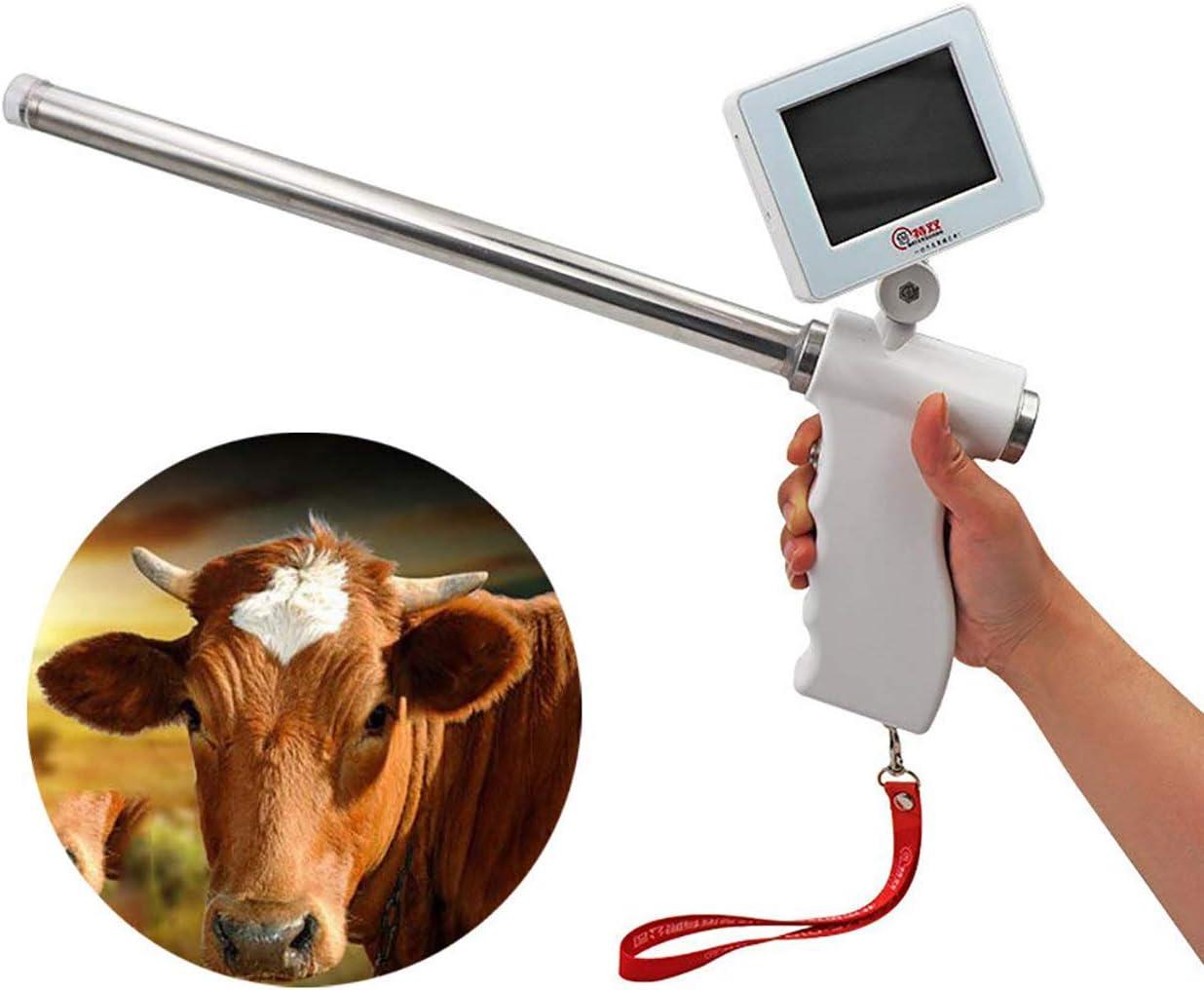 HSJSY Profesional Visual InseminacióN Pistola con 4,3 Pulgadas De Monitor Instrumento Veterinario Transcervical De InseminacióN, Aperos De Labranza Cerdo, Vaca, Caballo, Ciervo
