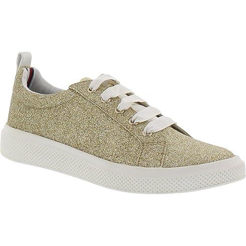2389b2ab3037 Amazon.com  Tommy Hilfiger Kids Girl s Glam Glitter (Little Kid Big Kid)  Champagne Gold Metallic 1 Little Kid M  Shoes