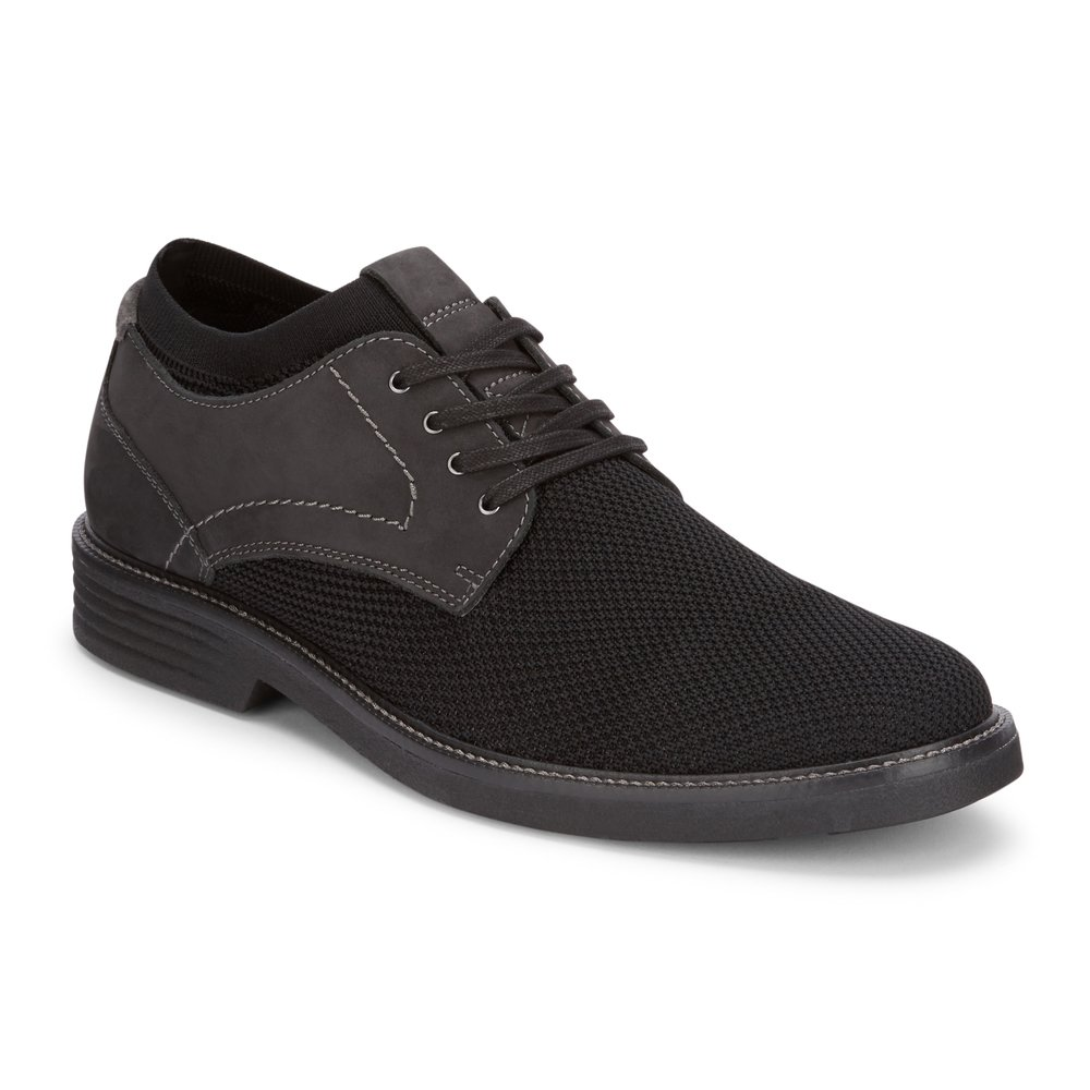 Dockers Mens Privett Knit/Leather Dress Casual Oxford Shoe with NeverWet