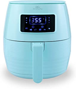 Kitchen Academy 5.8QT Digital Oil Free Air Fryer, Aqua Blue