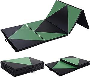 Polar Aurora 4'x8'x2 Pu Leather Folding Gymnastics Gym Tumbling Exercise Martial Arts Mat Pad