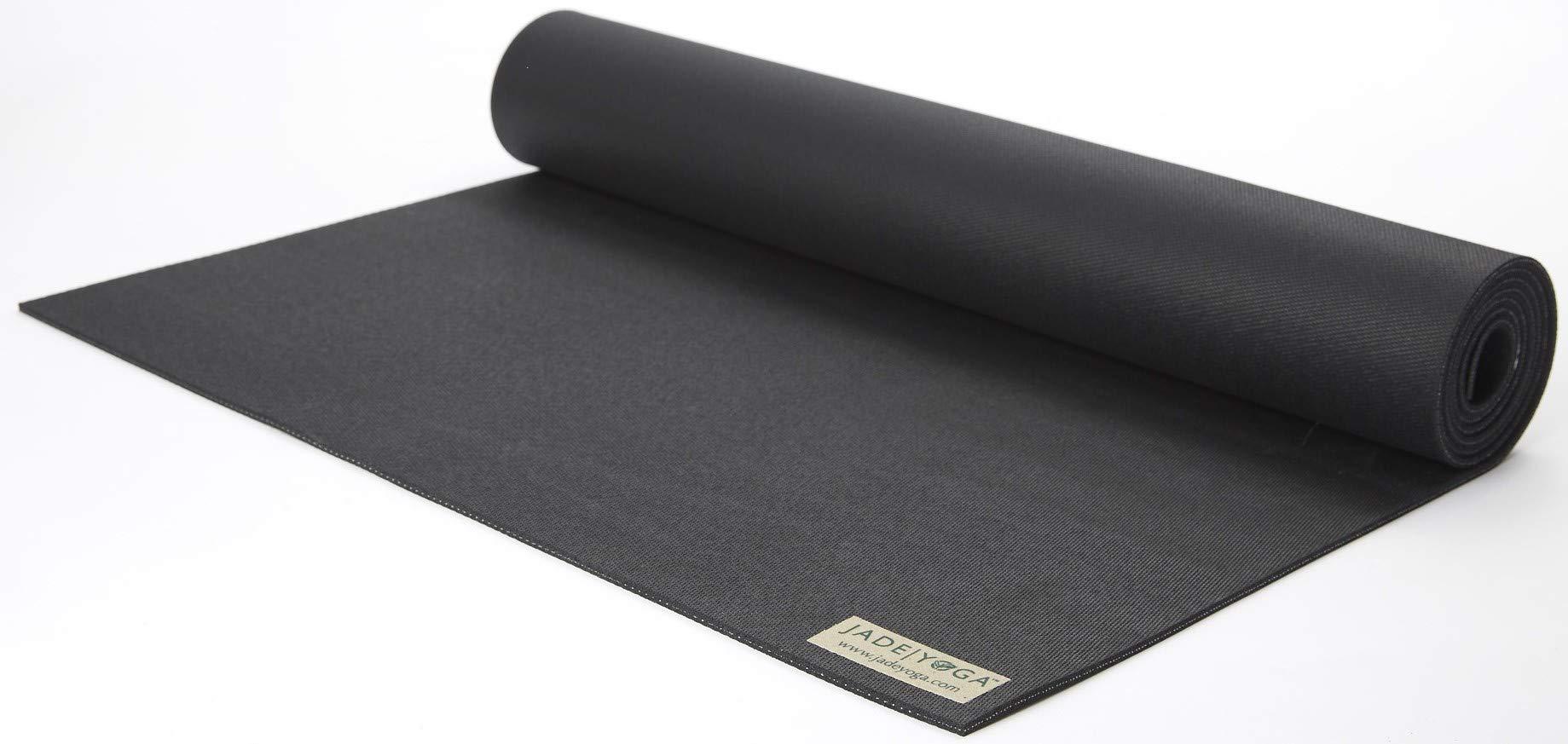 Jade Harmony 3/16'' x 24'' x 74'' Black Yoga Mat