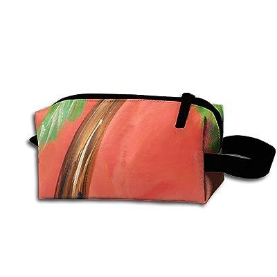 new Travel Bag Coconut Tree Toiletry Bag Clash Durable Zipper Wallet Makeup Handbag With Wrist Band