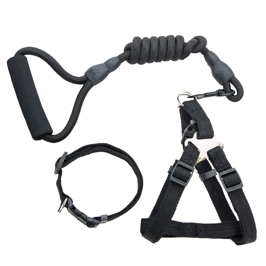 XS Dog Lead Pet Leash Dog Walking Belt Handles Adjustable Waist Belt Sturdy Nylon Comfortable Safety Collar Harnesses Cat Ropewith Dogs (Size   XS)