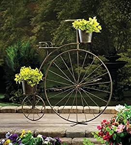 OLD-FASHIONED BICYCLE PLANT STAND PLANTER DISPLAY GARDEN DECOR