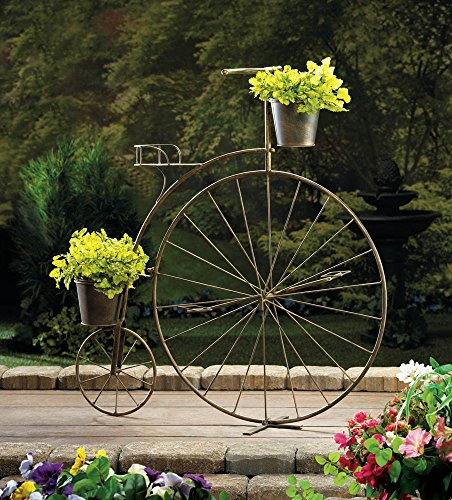 OLD-FASHIONED BICYCLE PLANT STAND PLANTER DISPLAY GARDEN