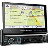 """Power Acoustik PDN-721HB Single DIN Bluetooth In-Dash DVD/CD/AM/FM Car Stereo Receiver w/ 7"""" Touchscreen and Navigation , BLA"""