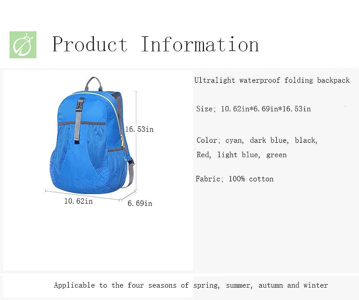 Color : Dark Blue DFGdf Ultra-Light Ultra-Thin Waterproof Mountaineering Bag Outdoor Skin Pack Foldable Large-Capacity Walking Bag