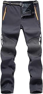 LHHMZ Pantaloni da Trekking con Fodera in Pile a Fodera Morbida da Uomo Outdoor Impermeabile Traspirante Addensare Pantaloni da Arrampicata a Piedi Caldi e Invernali