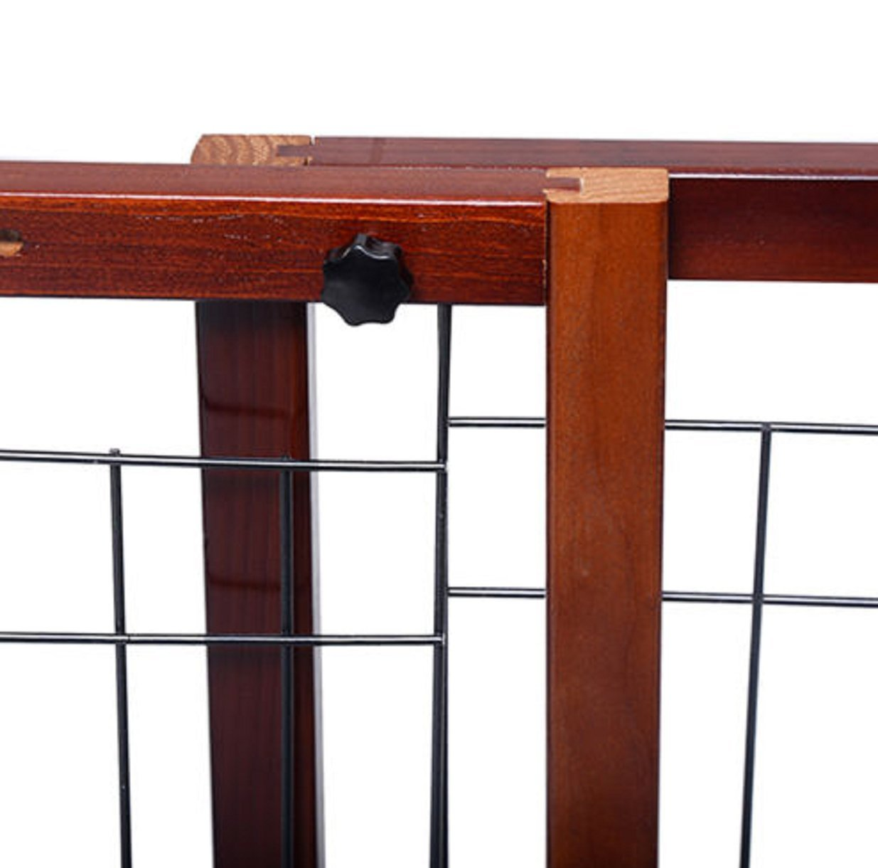 Gate Dog Wood Door Paw Wide Tall Adjustable Indoor Solid Construction Pet by SisterYou (Image #5)