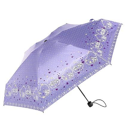 Sombrilla Paraguas de Bolsillo Ligero y Compacto Fácil de Llevar Lluvia THANSANDAU