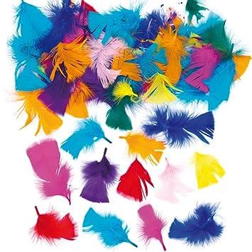 Plumas para manualidades y collages en colores vivos y variados ...